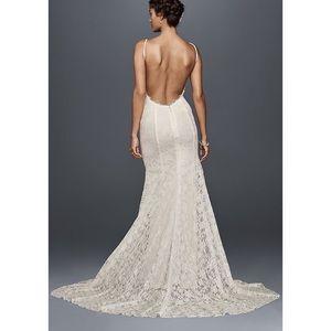 Ivory Galina wedding dress size 0 David's Bridal